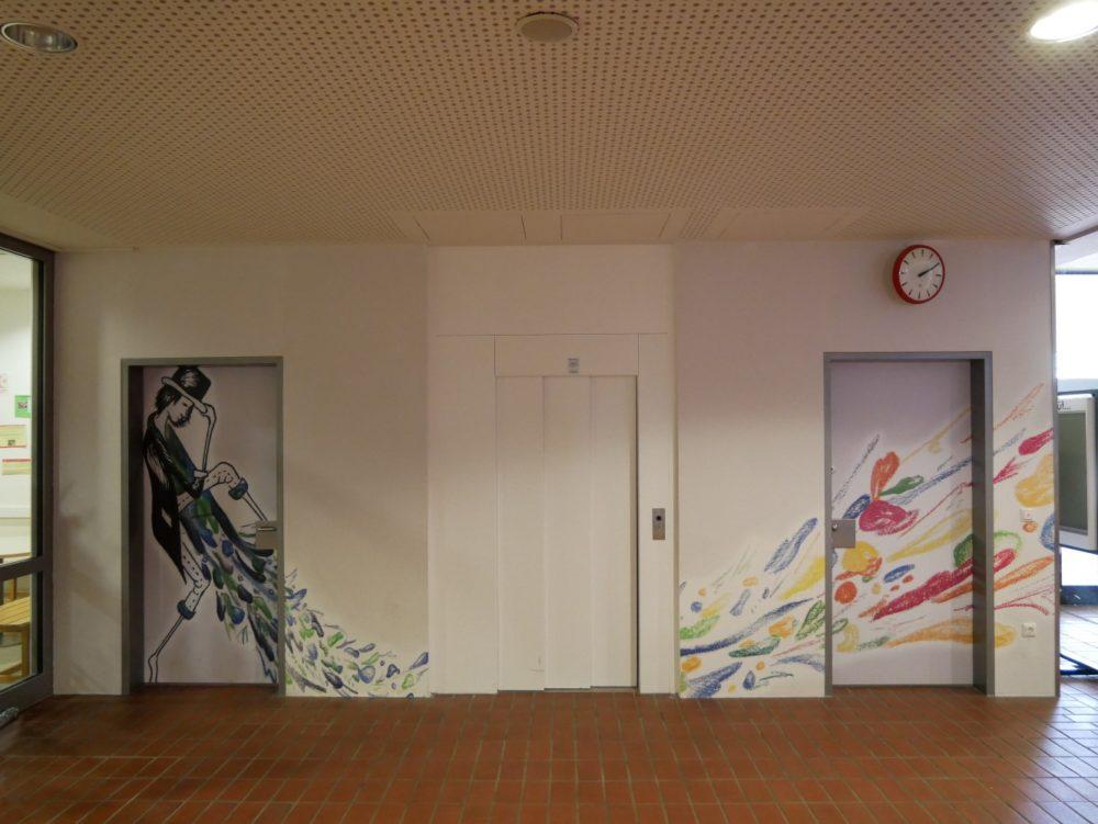 Herrentoilette im Erdgeschoss