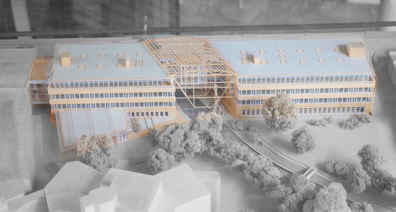 Modell des Institutsgebäudes